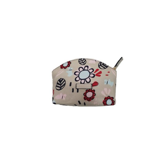 Radley 'Scattered floral' small make up bag cosmetic case oilskin cream