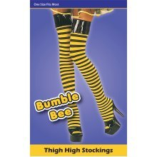 Bumble Bee Ladies Stockings -  stockings bee fancy dress bumble yellow black accessory BUMBLE BEE STOCKINGS TIGHTS GIRLS COSTUME FANCY DRESS OUTFIT
