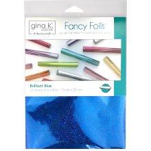 "Gina K Designs Fancy Foil 6""X8"" 12/Pkg-Brilliant Blue Holographic"
