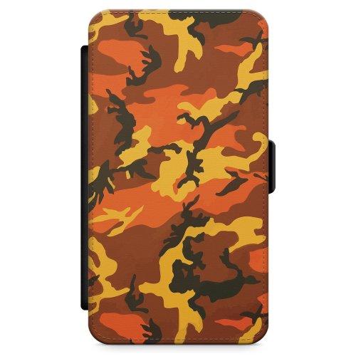 Iphone 5 Iphone Case Designer Orange Urban Camo Phone Case Premium Leather Flip Wallet Card Holder Slots Camouflage Fashion Designer Cute Trending On Onbuy