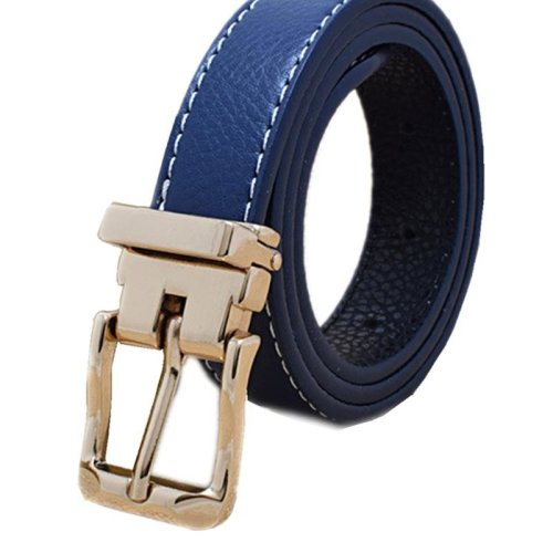 Free Shipping Children\'s Faux Leather Jeans Belt for Boys h Buckle Kids Pants Waist Belt for Girls
