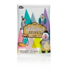 Children's Woodland Character Tissues - Children Tissue Soft Touch Tissue - Children Woodland Tissue Soft Touch Tissue Re-sealable Pack Size 145x 70x