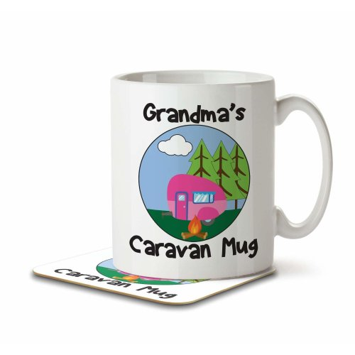 Grandma's Caravan Mug - Mug and Coaster By Inky Penguin