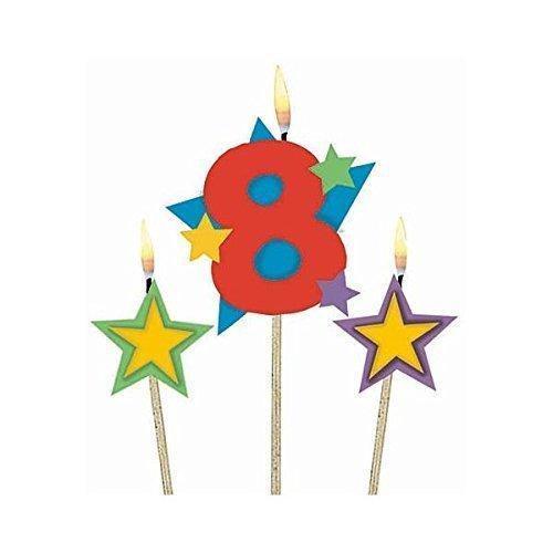 Candle on Stick 8 & Stars  - 12.7cm x 17.8cm - /3