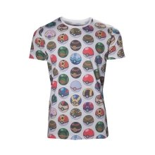 Pokemon All-over Poke Ball Print T-Shirt L Size - Grey (TS500354POK-L)