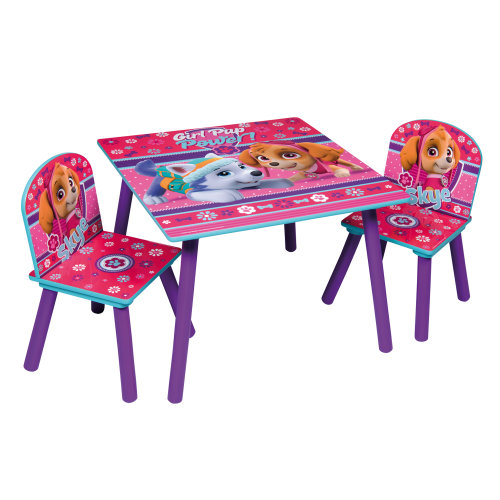 (Pink Paw Patrol) Children's Cartoon Character Table & Chair Set