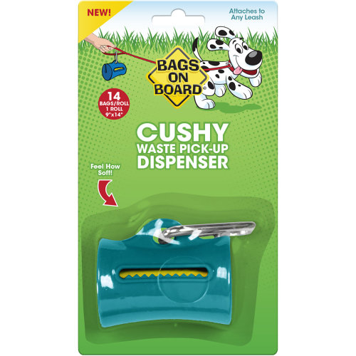 Bags On Board Cushy Dispenser W/14 Bags-Teal