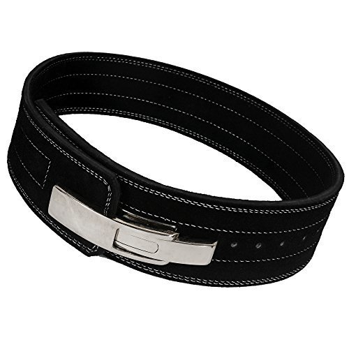 ARD Champs 10MM Weight Power Lifting Leather Lever Pro Belt Gym Training Black Medium