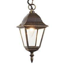 Black/Gold Cast Aluminium IP44 Outdoor Hanging Lantern by Happy Homewares