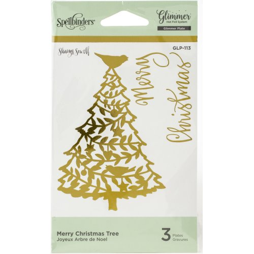 Spellbinders Glimmer Hot Foil Plate-Merry Christmas Tree