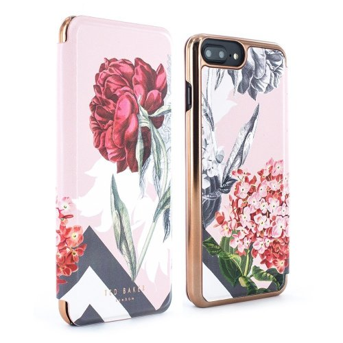 sale retailer f2a8f 7ce94 Ted Baker Official Premium Quality EMMARE Mirror Folio Case for iPhone 8  Plus / 7 Plus - Highly Protective Cover for Womens/Girls - Palace Gardens