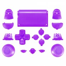 ZedLabz full replacement button set mod kit for 2nd gen Sony PS4 JDM-030 controllers - purple