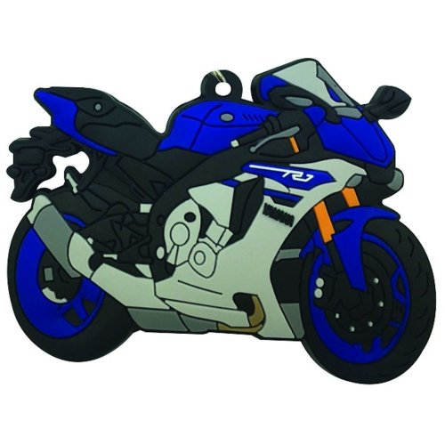 Yamaha YZF-R1 rubber key ring motor bike cycle gift keyring & chain