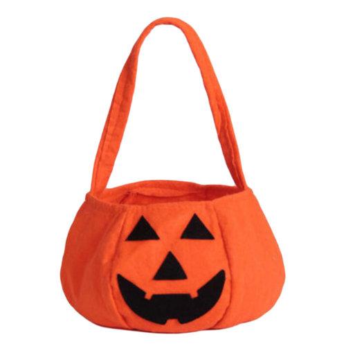 Trick Or Treat Pumpkin Halloween Party Decor Children Prop Candy Storage-A7