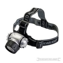 12 LED Adjustable Multimode Headlamp - Silverline 140079 -  led 12 silverline headlamp 140079