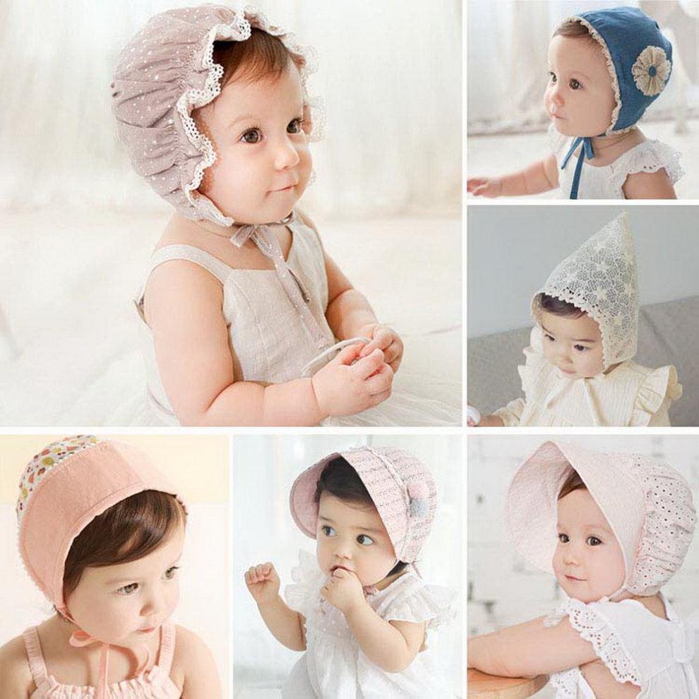 ... Baby Toddler Sun Hat Bonnet Baby Pilot Cap Beanie Infant Cap 3-12  Months 8a7d31eb9f29