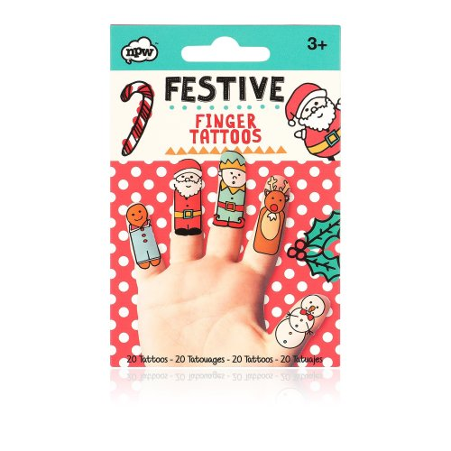NPW W17823 Festive Finger Tattoos