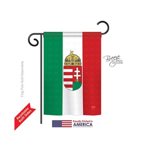 Breeze Decor 58123 Hungary 2-Sided Impression Garden Flag - 13 x 18.5 in.