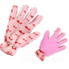 Pet Grooming Glove Five Finger Design Pet Glove Hair Removal Right