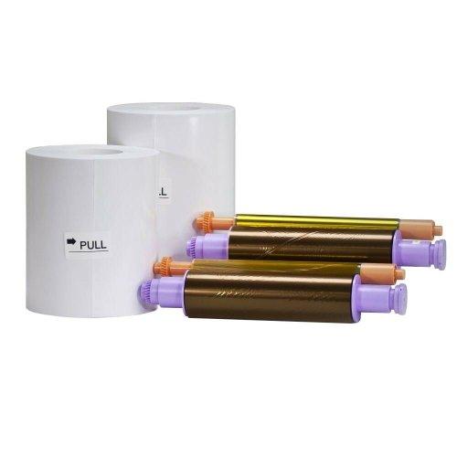 "Citizen CX Photo Printer Media Pack 4x6"" Paper Roll & Ink Ribbon (800 Prints)"