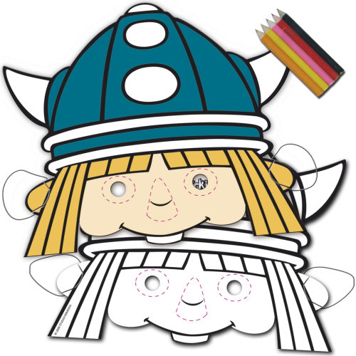 Vicky Comic Viking mask Childrenparty 8 children's birthday Size
