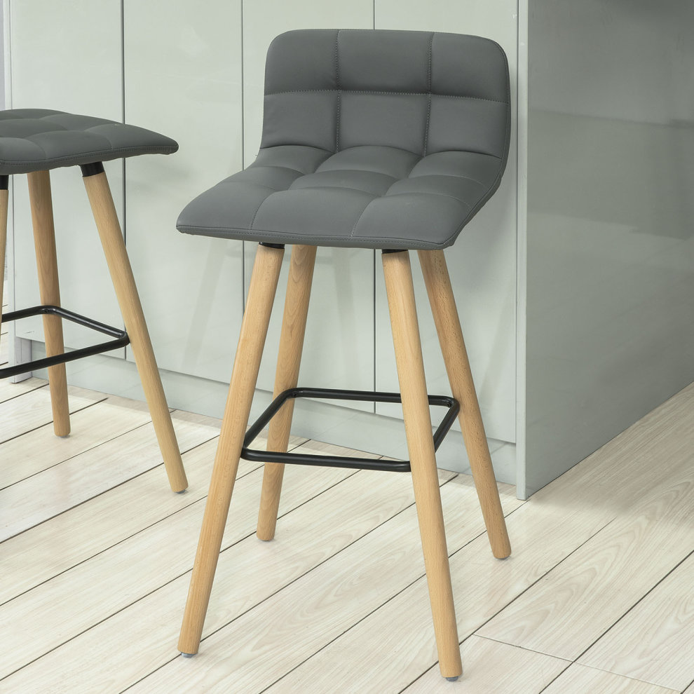 online retailer 98de9 2cd92 SoBuy® FST50-HG, Kitchen Breakfast Barstool, Bar Stool with PU Leather  Padded Seat