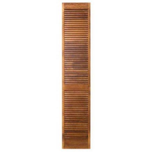 09231352808012397100 28 x 1.13 in. 730-CL Full Louver Pine Bi-Fold Door