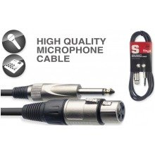Stagg Smc Female Xlr to Mono Jack Cable (3m/10ft, Black) - Smc3xp