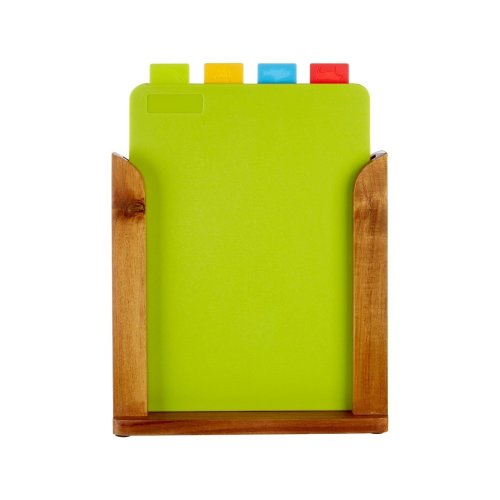 Set Of 4 Chopping Boards with Wooden Stand