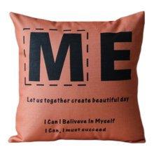 "17"" Vintage Style Comfortable Throw Pillow Soft Pillow Sofa Cushion, ME"