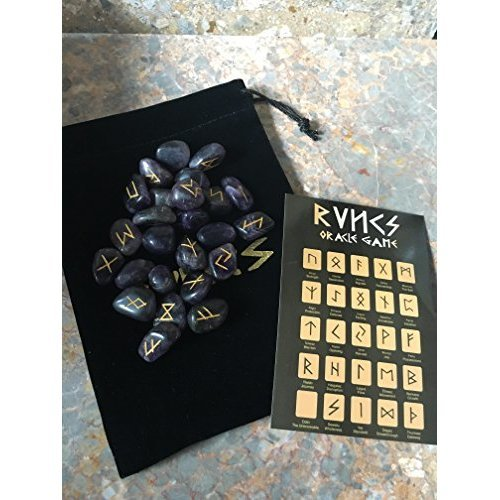 Amethyst Rune Stones, divination, oracle, crystals, fortune telling