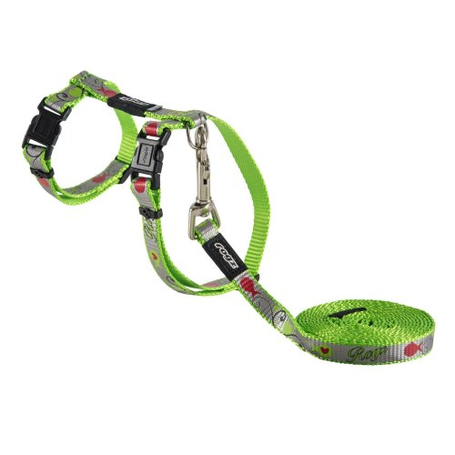 Rogz Catz Reflectocat Lead & Harness Small Lime