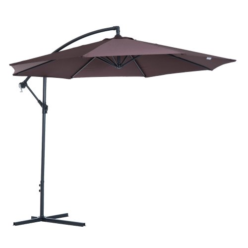 Outsunny 3m Hanging Umbrella Parasol