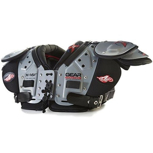 Gear Pro-Tec 1295450 X2 Air Shoulder Pads, X-16F QB, WR, DB - Large