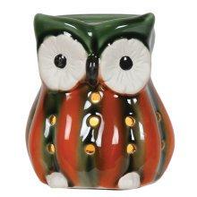 Owl Electric Wax Melt Burner 13cm High Glass Tart Granules Aromatize