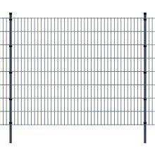 vidaXL 2D Garden Fence Panels & Posts 2008x1630 mm 20 m Grey