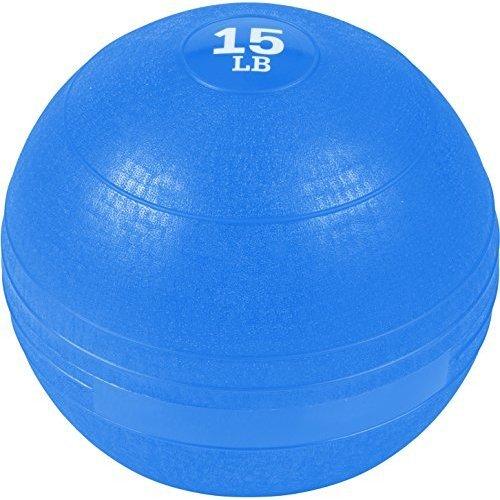 Trademark Innovations Exercise Slam Medicine Ball Blue 15 Lbs