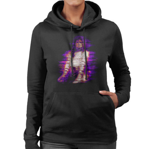 Michael Jackson Bad World Tour 1988 Purple Flare Women's Hooded Sweatshirt