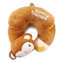 U-Shaped Pillow Cartoon Pillow Cervical Pillow Office Pillow Nap Pillow(Monkey)