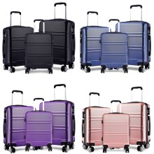 KONO Luggage Suitcase Travel Trolley Case Bag Hard Shell ABS 4 Wheels Spinner 20 24 28 Inch Set