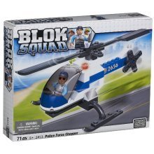 MEGA BLOKS BLOK SQUAD POLICE FORCE CHOPPER / HELICOPTER