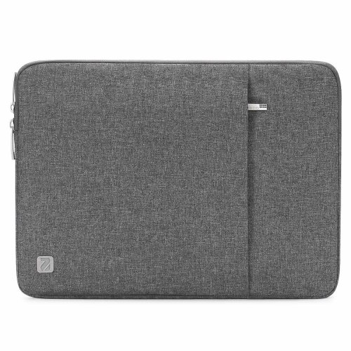 "NIDOO 15 Inch Water-Resistant Laptop Sleeve Case Protective Bag Portable Carring Pouch For 15"" MacBook Pro Retina Display, Grey"