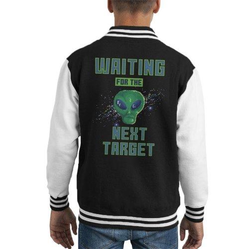 Retro Pixel Alien Waiting For Next Target Kid's Varsity Jacket