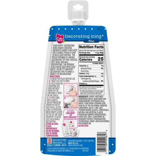 Cake Mate(R) Decorating Icing Pouch 8oz-Blue