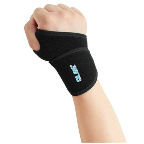 Hot Sale Synthetic Rubber Wrist Wrap, One Size, Black, One Piece