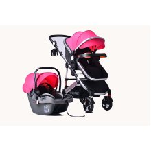 Pink 3 in 1 Combi Stroller Buggy Baby Child Pushchair Free Car Seat