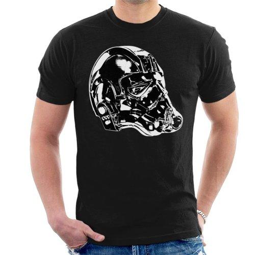 Original Stormtrooper Imperial TIE Pilot Helmet Side Shot Men's T-Shirt