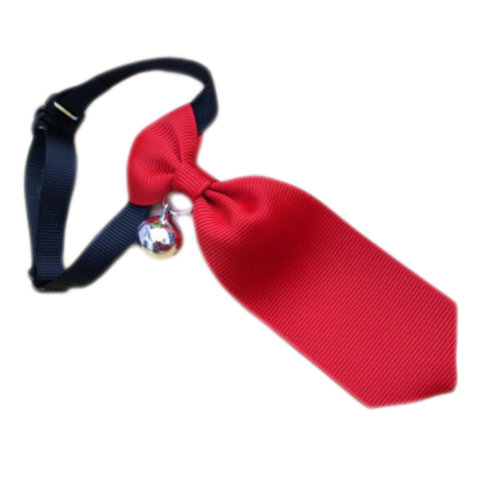 England Style Pet Collar Tie Adjustable Bowknot Cat Dog Collars with Bell-B02