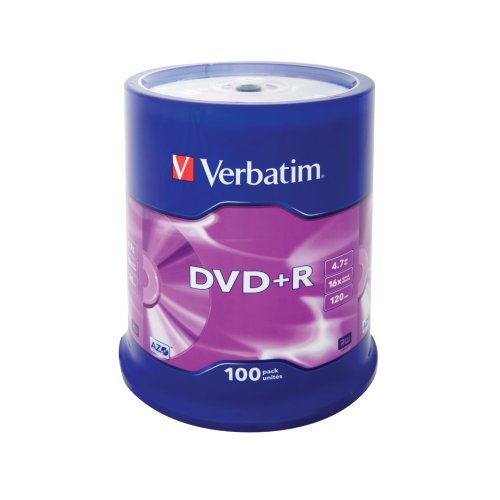 Verbatim DVD+R Matt Silver 4.7GB DVD+R 100pc(s)