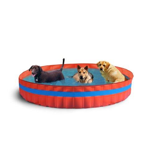 New Plast 3100 Dog Swimming Pool for Dogs Diameter 305x H 46cm Orange